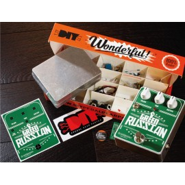 Green Russian pedal replica KIT fuzz distortion