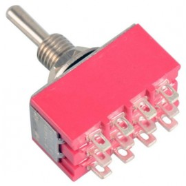 4PDT toggle switch ON-OFF-ON