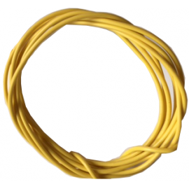 Flexible yellow wire 0.25mmq - 1mt