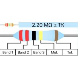 Resistor Metal Film 1/4W 1% - 2.2M Ohm
