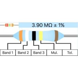 Resistor Metal Film 1/4W 1% - 3.9M Ohm
